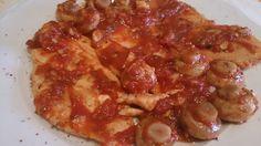 Fácil y Sano : Pollo a la plancha con tomate , jenjibre y champiñ...