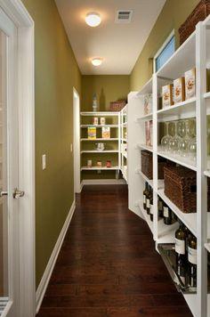 Walk-through pantry!