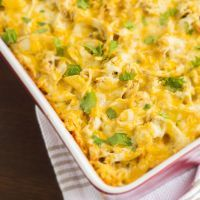 Rotisserie Chicken Mac and Cheese Casserole