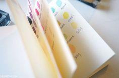 + Cute DIY nail polish swatch book +