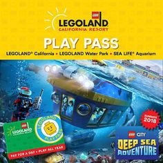 LEGOLAND California, Water Park & SEA LIFE Aquarium Play Pass