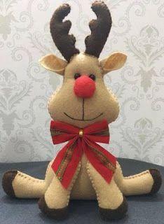 5 Moldes para hacer renos y muñeco de santa claus y señora claus en fieltro ~ Solountip.com
