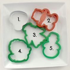 Common cookie cutters that can be made into Christmas cookies.