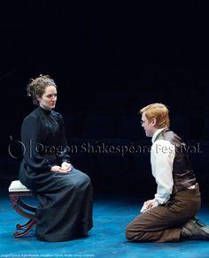 Oregon Shakespeare Festival. SEAGULL (2012): Kate Hurster, Jonathan Dyrud. Photo: Jenny Graham.