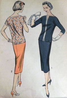 1960s Over Blouse and Skirt or Dress sewing by retroactivefuture, $15.00