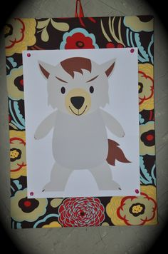 """""""Pin the nose on the wolf"""" game for a Little Red Riding Hood party #party #game"""