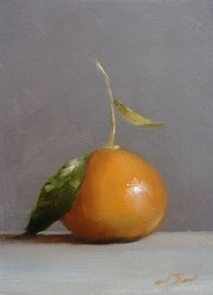 Original Oil Painting - Clementine - Contemporary Still Life Art - Nelson