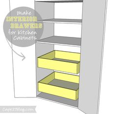 How To Add Interior Drawers Kitchen Cabinets