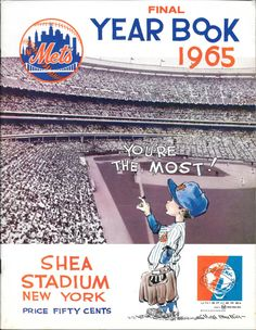 1965 New York Mets Yearbook New York Mets Baseball, Ny Mets, Cheap Baseball Jerseys, Casey Stengel, Lets Go Mets, Shea Stadium, Yearbook Covers, Baseball Cards, Baseball Stuff