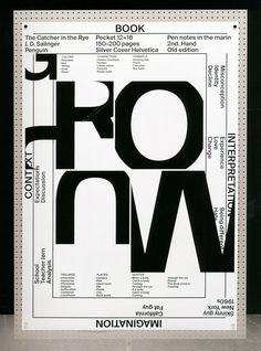 ⓐ ECAL Graphic Design — students' work Type Design, Art Design, Book Design, Layout Design, Graphic Design Posters, Graphic Design Illustration, Graphic Design Inspiration, Cover Design, Photo Images