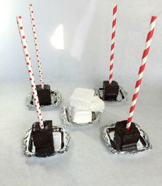 Valentine's Day Hot Chocolate On A Stick With Marshmallows-Vanilla Bean or Strawberry by PSSweet on Etsy