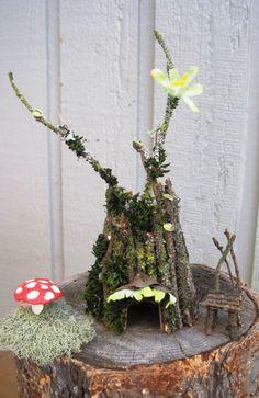 we make nature/fairy houses!