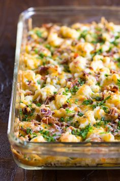 Our yummy loaded cauliflower casserole recipe is an absolutely delicious dinner idea that your family will love. Each bite is so cheesy and full of flavor!