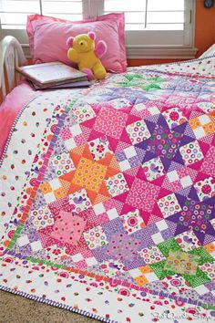 Brighten up with the Sew Sweet Quilt Kit featuring Sweet Things by Holly Holderman for LakeHouse Dry Goods. Available in the Sept/Oct issue of McCall's Quilting