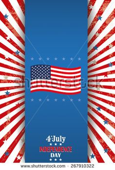 Oblong flyer design for 4th of july independence day. Eps 10 vector file.