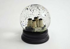 unique snow globes - If you're finding your snow globes to be too cheery and lighthearted, then perhaps one of these unique snow globes depicting an apocalyptic n...