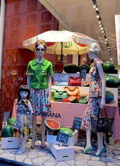 "Dolce & Gabbana window display, ""How to pick a watermelon"""