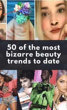 Bizarre eyebrows, nose hair extensions, furry nails & more. 50 of the weirdest beauty trends to date Beauty Trends, Beauty Hacks, Beauty Tips, Emma Watson Legs, Valentines Day Wishes, Cute Baby Pictures, Girls Dp, Cool Items, Humor