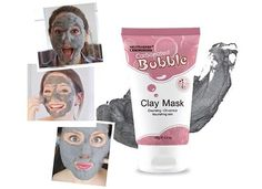 Neutriherbs Carbonated Bubble Clay Mask has strong adsorption affinity, which helps to remove excessive oil, makeup residues and dirt in depth. Face Facial, Facial Oil, Facial Masks, Clay Face Mask, Clay Masks, Carbonated Bubble Clay Mask, Oil Free Makeup, Hydrating Mask, Makeup Essentials