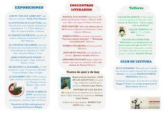Tríptico de actividades II para el día del libro 2014. IES Montes Orientales, Iznalloz