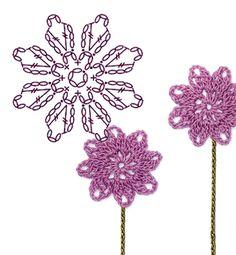 No.8 Rue Anemone Crochet Flower Motifs / 바람꽃 코바늘 플라워 모티브도안