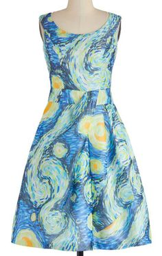 van Gogh-inspired dress http://rstyle.me/n/hqkrznyg6