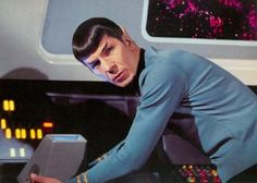 Star Trek Original Series...Leonard Nimoy as  Lieutenant Commander Spock, commonly Mr. Spock