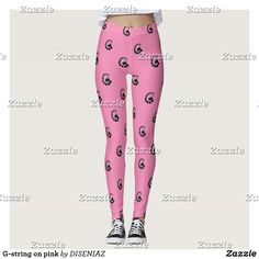 Shop G-string on pink leggings created by DISENIAZ. Pink Leggings, Custom Leggings, Yoga Leggings, Yoga Pants, Gym Fashion, Fashion Outfits, G Strings, Leggings Fashion, Look Cool