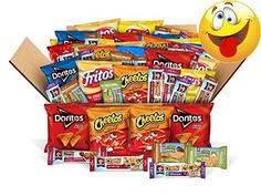 The Frito-Lay and Quaker Chewy #Lunch Box #Builder Variety Box includes: 5 bags Doritos Cool Ranch Tortilla Chips (1oz each), 5 bags Doritos Nacho Cheese Tortilla...