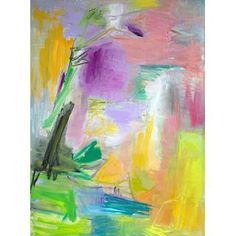"""Trixie Pitts """"Morning Blooms"""" Abstract Painting"""