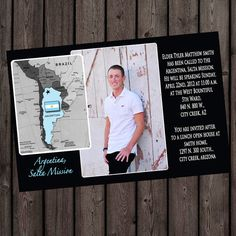 missionary farewell/homecoming invitation or by AmysSimpleDesigns