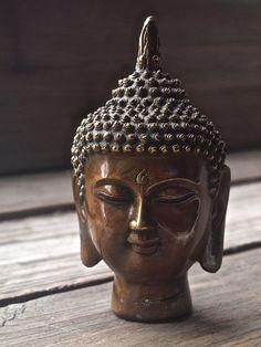 Thai Bronze Buddha Head / Vintage Thai Buddha Head by CantonPalace
