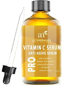ArtNaturals Enhanced Vitamin C Serum with Hyaluronic Acid 1 Oz - Top Anti Wrinkle, Anti Aging & Repairs Dark Circles, Fades age spots & Sun Damage - 20% Vitamin C Super Strength - Organic ingredients 10.95 - On clean skin, apply a thin layer of serum over desired area. Allow to dry, then apply your daily moisturizer. This serum will help your daily moisturizer penetrate deeper into your skin. Use Daily, and can be used under make up.