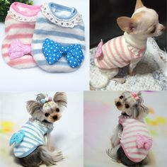 Cat Dog Hoodie Pet Clothes Coat Clothing for chihuahua teacup yorkie maltese #Unbranded