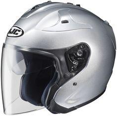 HJC FJ-JET Open Face Motorcycle Helmet Silver