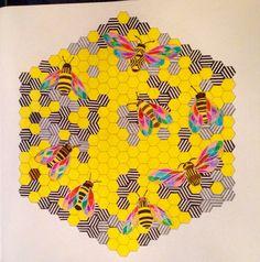 Animal Kingdom Bees Millie Marotta Colourist Kimi Jolly