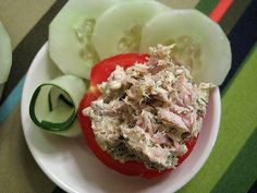 Tuna Salad On Tomato -low Carb Snack