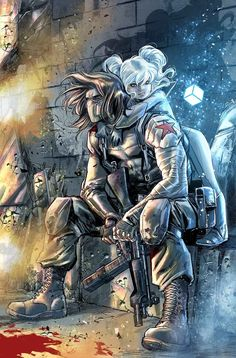 "alcaantaraas: "" Thunderbolts #7 variant cover by Marco Checchetto """