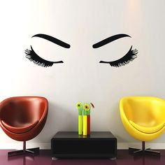 Wall Decals Woman Girl Eyes Joy Fashion Vinyl Decal Sticker Home Interior Design Art Mural Living Room Bedroom Beauty Salon Decor MN475