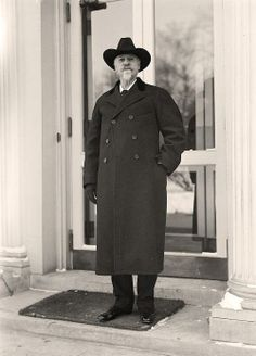 Buffalo Bill Cody leaving the White House between 1913 and 1917 by Harris & Ewing