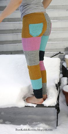 Ihan Kaikki Kotona Best Leggings, Leggings Are Not Pants, Thigh High Socks, Knit Pants, Knitting Socks, Little People, Playing Dress Up, Refashion, Leg Warmers