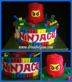 Ninjago Lego Buttercream iced w/ Fondant accents. All legos were hand cut. Ninjago head was RKT covered in fondant. Saw a few Ninjago cakes. Ninja Birthday Cake, Ninja Cake, Lego Birthday Party, Birthday Ideas, 5th Birthday, Birthday Cakes, Birthday Parties, Lego Ninjago Cake, Ninjago Party