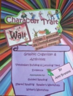 CCSS Charlotte's Web Theme Task Cards, Character Traits, V