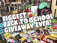 BIGGEST BACK TO SCHOOL GIVEAWAY EVER! 2016 - YouTube