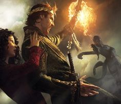 """Rand Al'Thor from the Wheel of Time series basically saying """"No."""" to a fireball. Gorgeous work.  Gorgeous."""