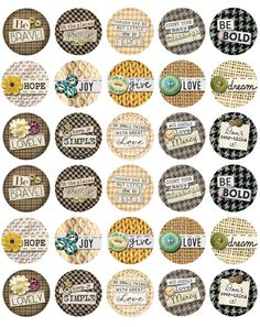 Inspirational Quotes Bottle Cap Images from Bottle Cap Co