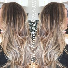 Neutral blonde balayage ombré with a long layered haircut & beach waves! Hair by Danni in Denver, CO Neutral blonde balayage ombré with a long layered haircut & beach waves! Hair by Danni in Denver, CO … Ombré Hair, New Hair, Long Layered Haircuts, Long Haircuts, Hair Color And Cut, Blonde Balayage, Bayalage, Sombre Vs Ombre, Great Hair