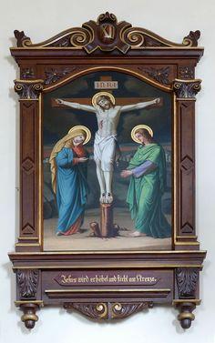 Alsace, Bas-Rhin, Triembach-au-Val, Église Saint-Christophe, Chemin de croix (1890, Carola SORG