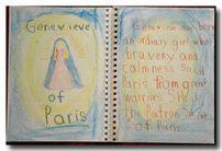 Gallery of Homeschoolers' Work: 2nd Grade Saints and Heroes - Christopherus Homeschool Resources