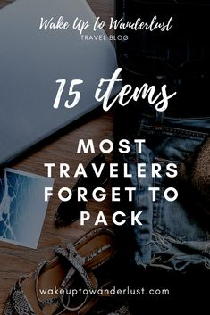 With the hustle and bustle of traveling, it's easy to forget many important items. This list will remind you of those little things you might forget!